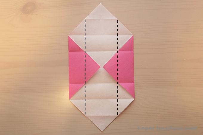 折り紙重ね箱の折り方