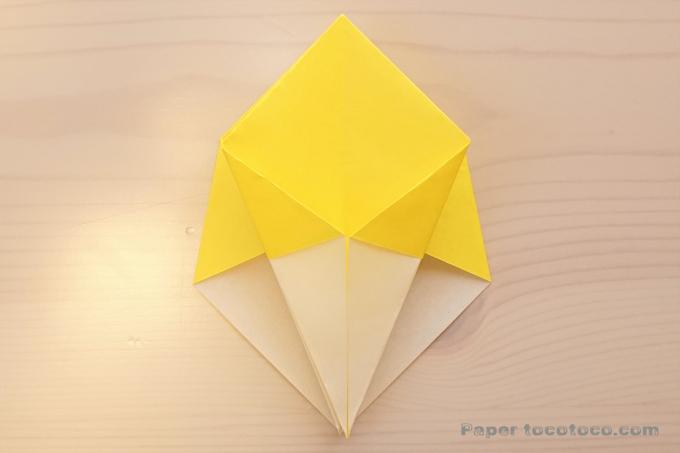 折り紙角香箱1の折り方