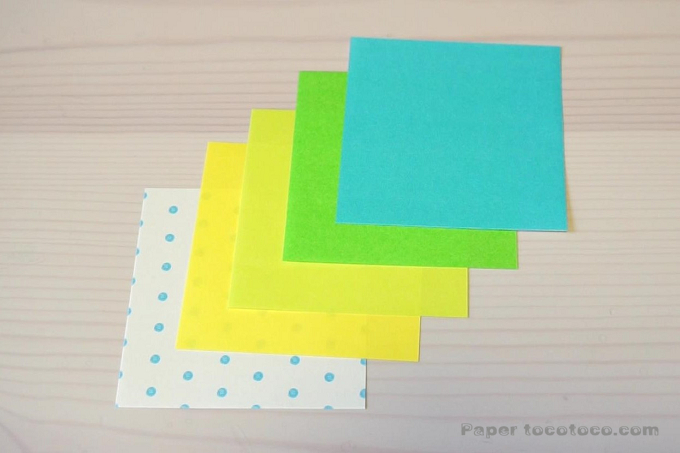 折り紙星1の折り方