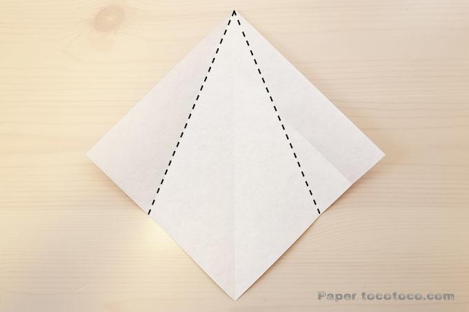折り紙星2の折り方