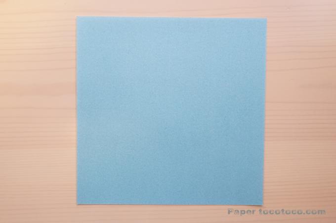 折り紙角香箱2の折り方