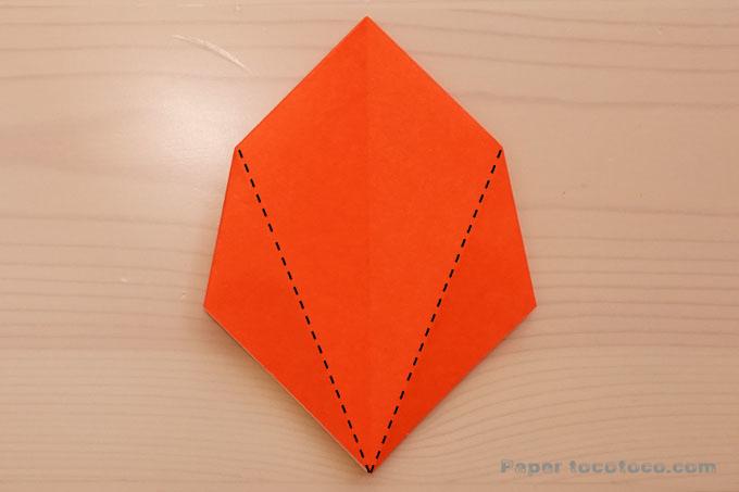 折り紙角香箱3の折り方