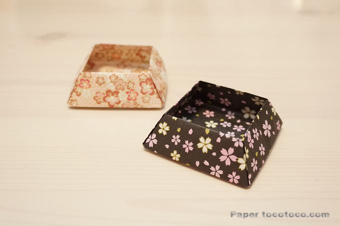 折り紙☆角鉢の折り方☆簡単!使える小物入れ