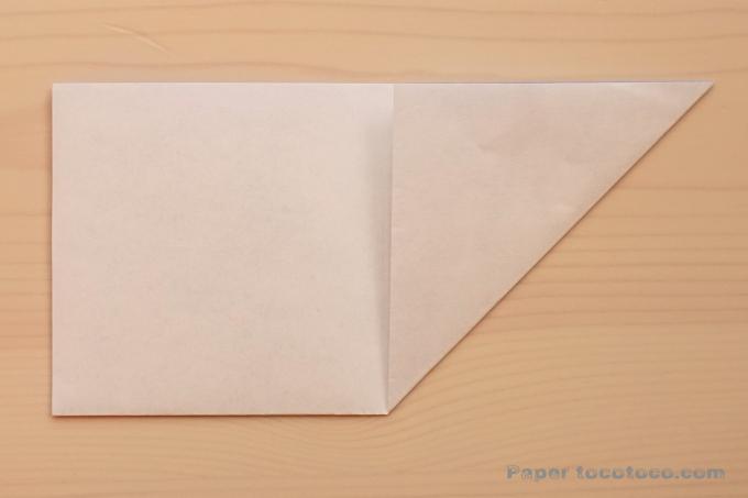折り紙角鉢1の折り方