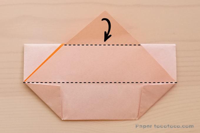 折り紙角鉢2の折り方