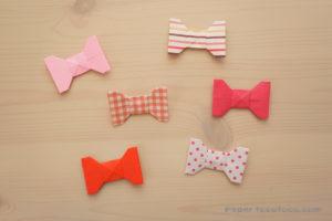 折り紙リボンの折り方1