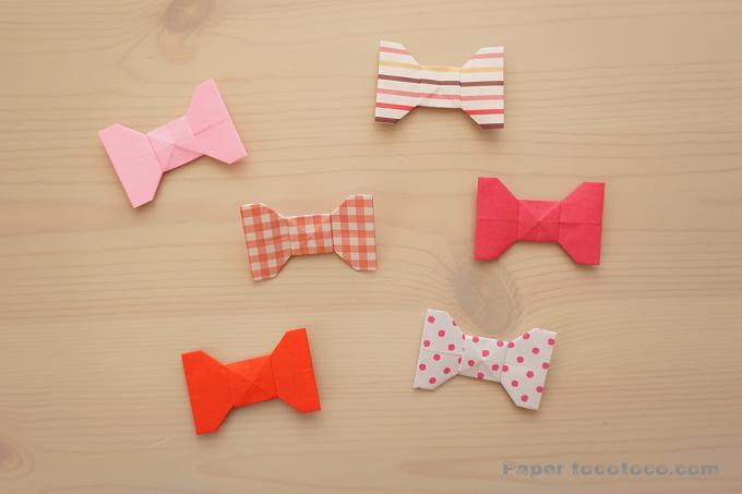 折り紙☆リボンの折り方☆簡単かわいい!シンプルリボン