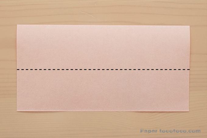 折り紙リボン1の折り方