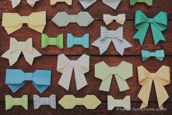 折り紙リボンの折り方