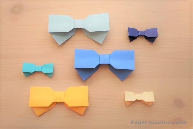 折り紙☆リボンの折り方☆簡単かわいい!垂れ付きリボン
