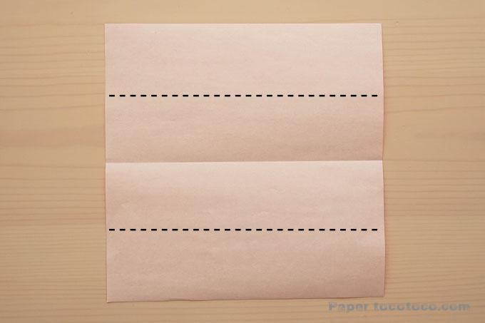 折り紙垂れ付きリボンの折り方