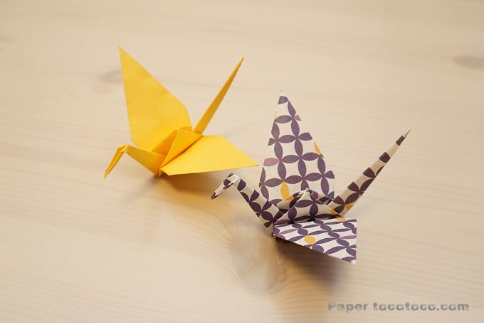 折り紙☆鶴の折り方☆ワンポイントできれいな仕上がり