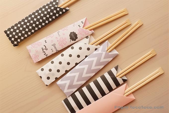 折り紙☆箸袋の折り方☆超簡単!シンプルな基本の箸袋