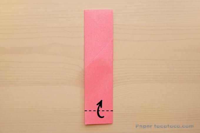 折り紙箸袋の折り方1