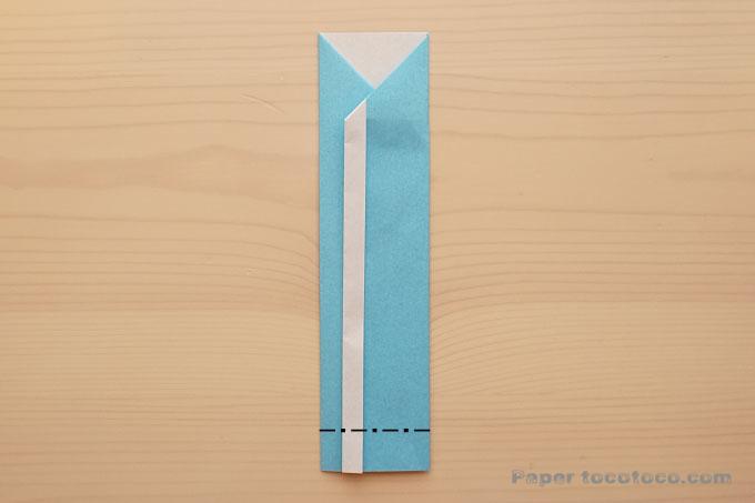 折り紙箸袋の折り方2