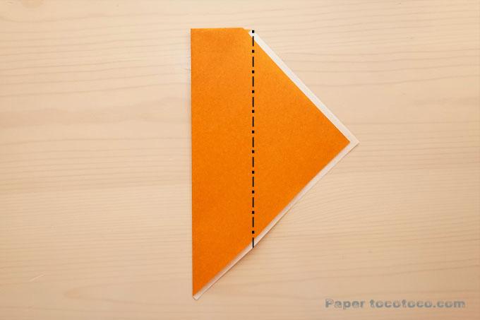 折り紙箸袋の折り方3