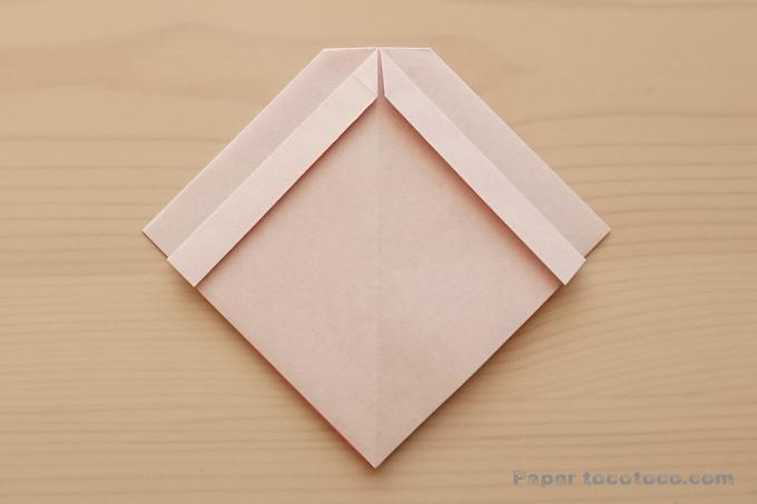 折り紙リボンの折り方5