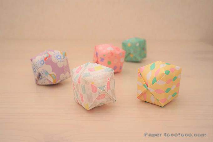 折り紙☆風船の折り方☆簡単!膨らませて遊べるかわいい風船
