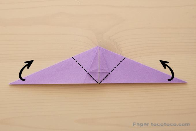 折り紙箱鶴の折り方