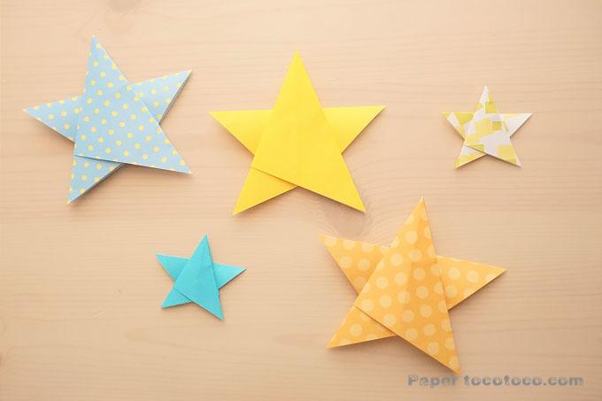 折り紙☆星の折り方☆オーナメントにも!一枚で折る簡単五角星