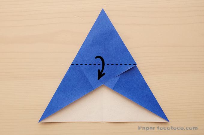 折り紙星の折り方4