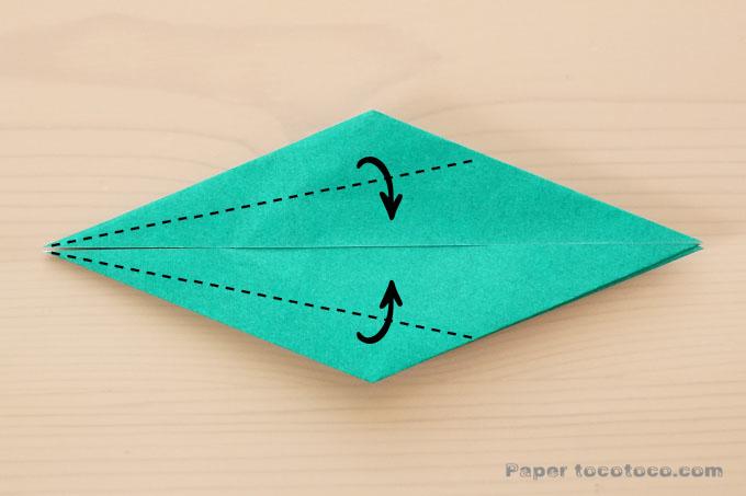 折り紙箱鶴の折り方2