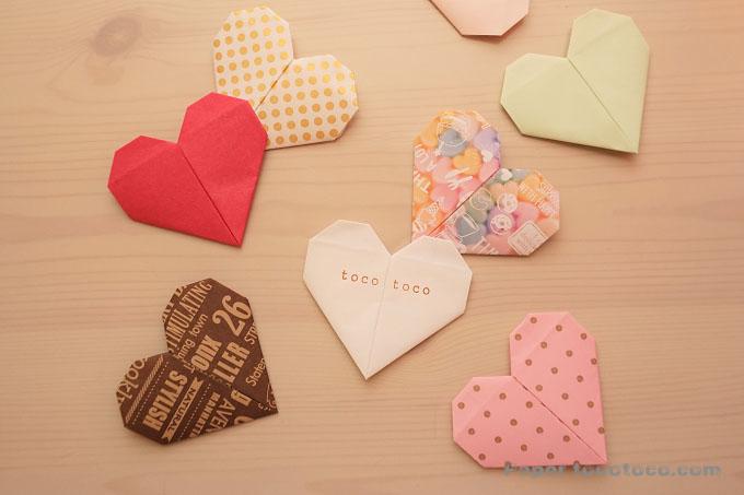 折り紙☆ハートの折り方☆簡単かわいい!シンプルな基本のハート