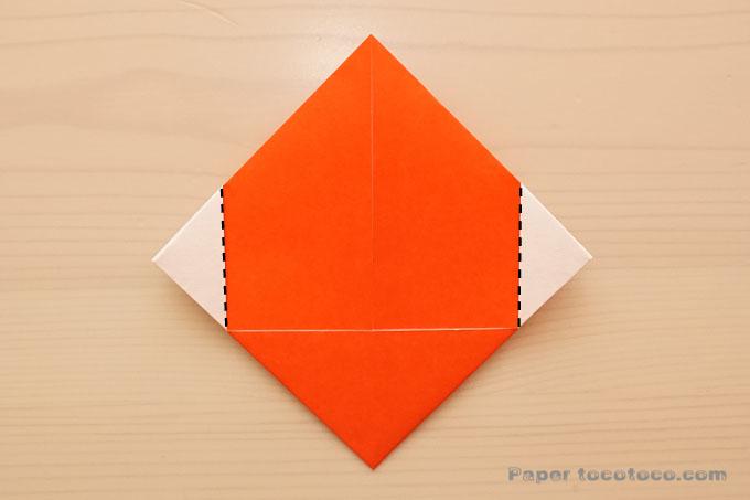 折り紙ハートの折り方1