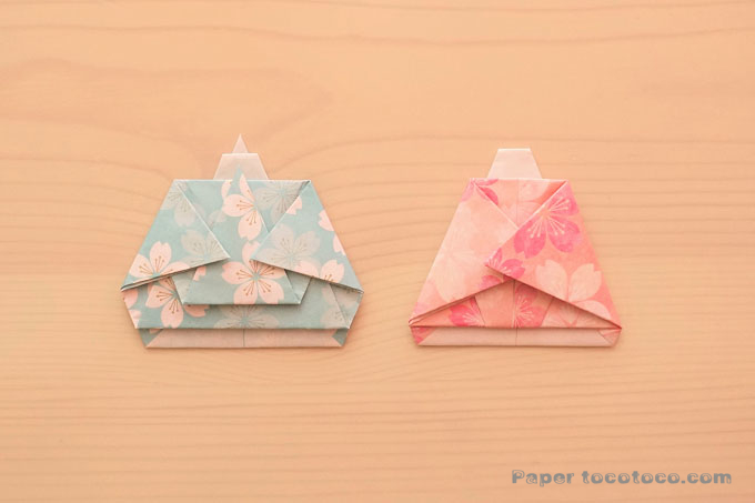 折り紙おひなさまの折り方1