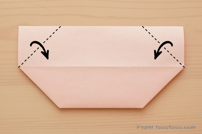 折り紙花びら小皿の折り方