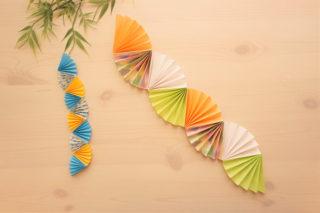 折り紙☆七夕飾り☆扇つづりの折り方☆簡単きれいなお飾り!