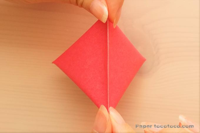 折り紙テトラパックの折り方