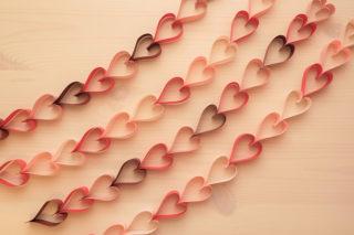 折り紙☆ハートつづりの折り方☆ホッチキスで簡単!ハートのオーナメント