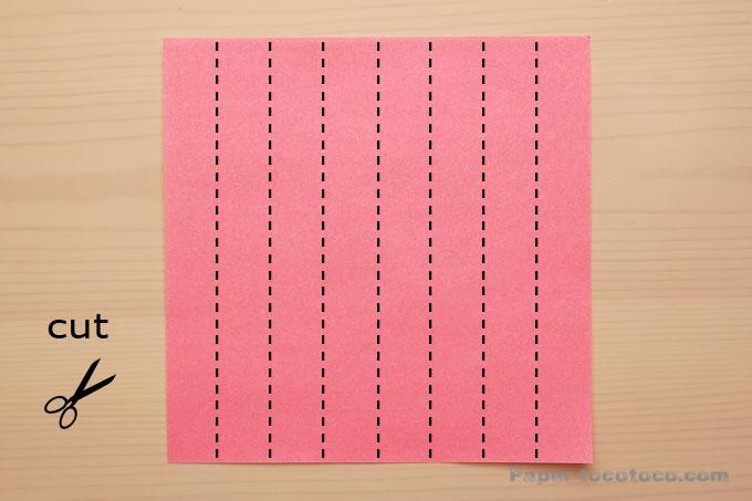 ハートつづりの折り方1