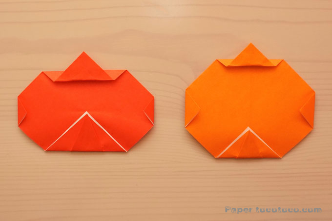 ジャックオランタンの折り方1