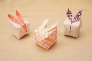 折り紙☆雪うさぎの折り方☆簡単かわいい!膨らますだけで立体的な風船うさぎ