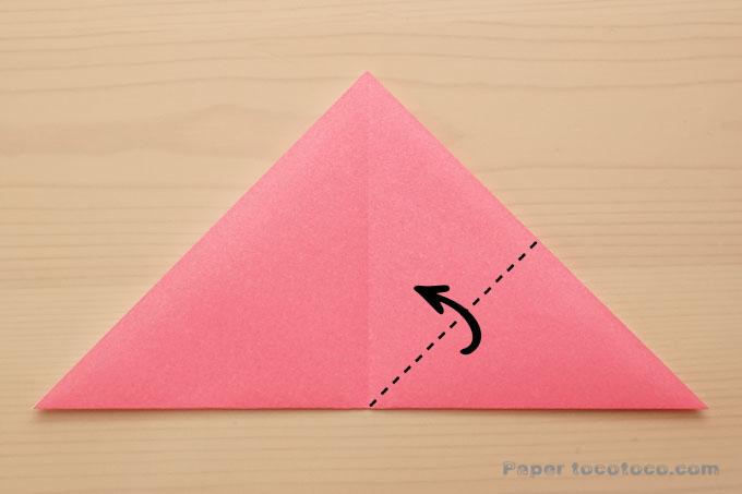 折り紙雪うさぎ(風船うさぎ)の折り方