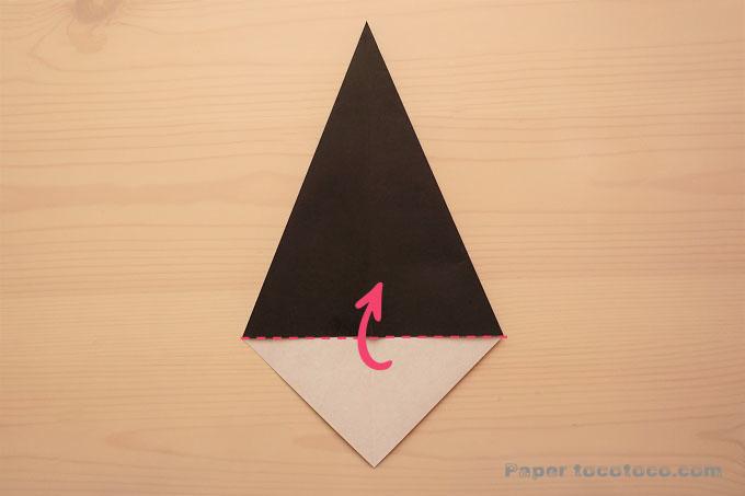 魔女の帽子の折り方1