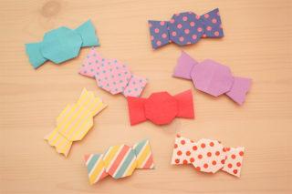 折り紙☆キャンディの折り方☆ハロウィンにもぴったり!簡単かわいいあめちゃん