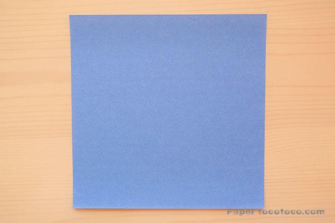 折り紙おばけの折り方1