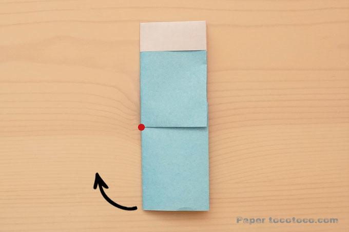 折り紙靴下の折り方1