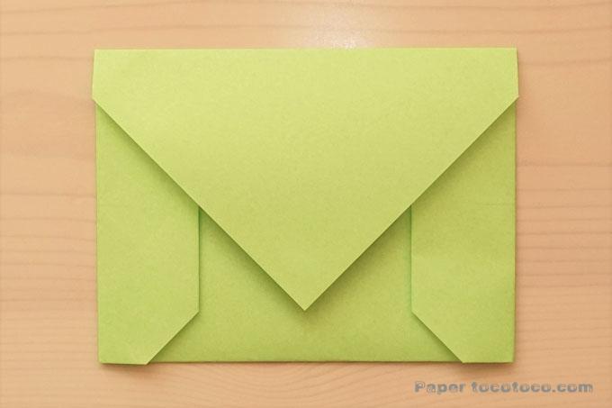 折り紙封筒の折り方1