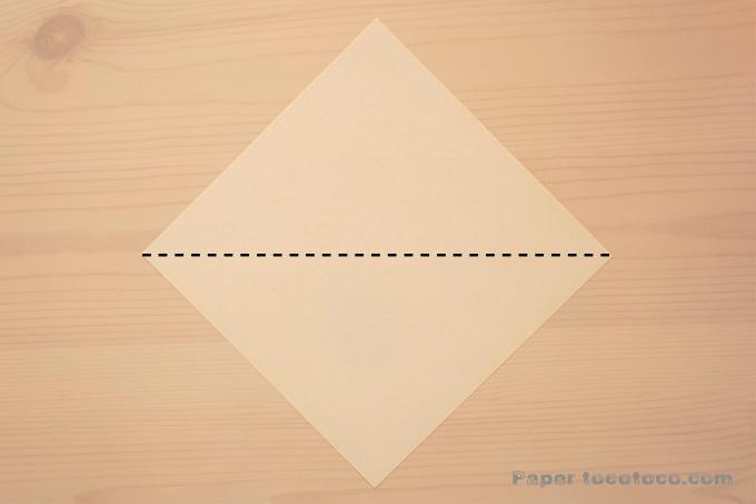 折り紙ひよこの折り方1