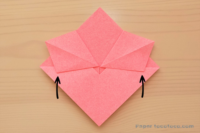 折り紙梅の花の折り方1