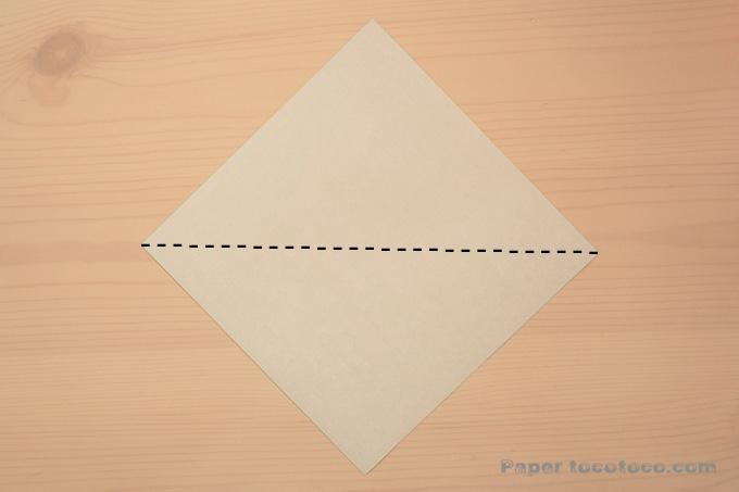 折り紙うぐいす・メジロの折り方1