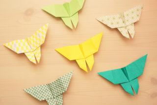 折り紙☆ちょうちょの折り方☆簡単かわいい!伝承おりがみの蝶々