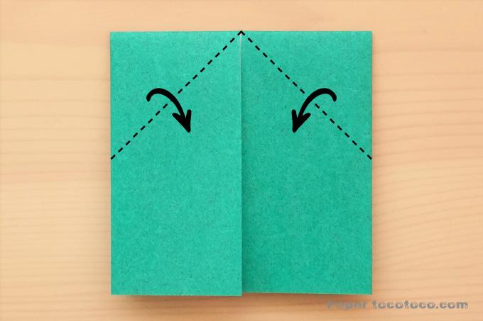 折り紙ちょうちょの折り方1